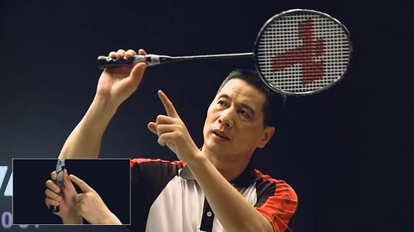 Badminton grip for smash